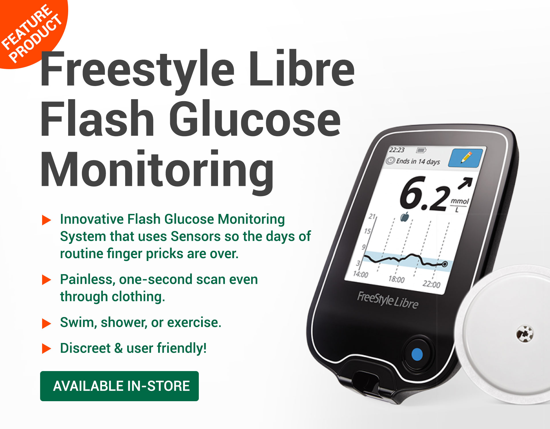Freestyle Libre Flash Glucose Monitoring