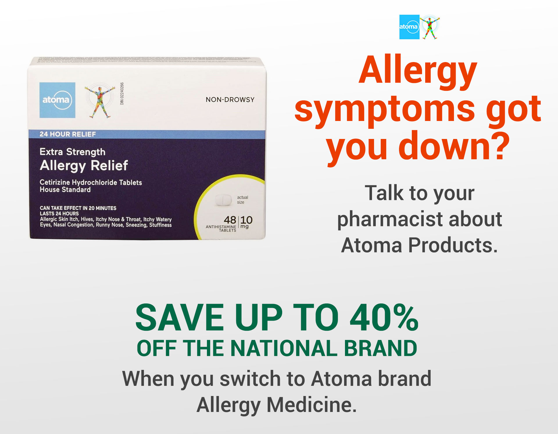 Switch and Save 40%  - Atoma Allergy Medication