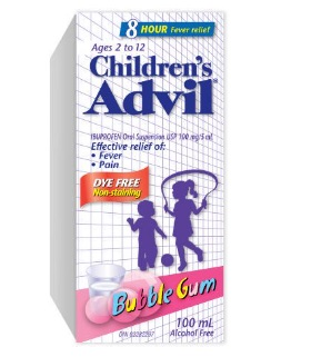 Advil Childrens Dye Free Bubble Gum 100ML