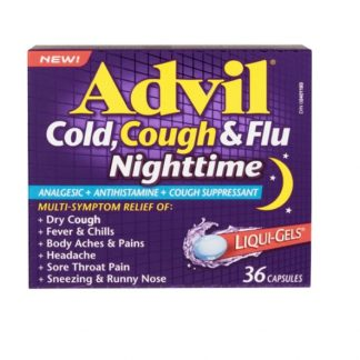 Advil Cold Cough & Flu Nighttime 36 Liquid Gels