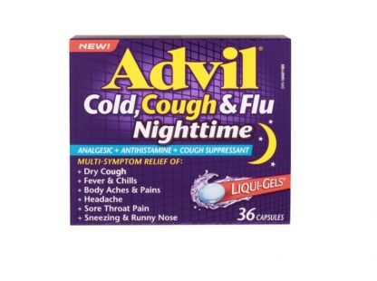 Advil Cold Cough & Flu Nighttime 36 Liquid Gels