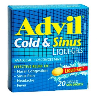 Advil Cold & Sinus 20 Liquid Gels