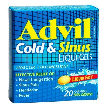 Advil Cold & Sinus 20 Liquid Gels