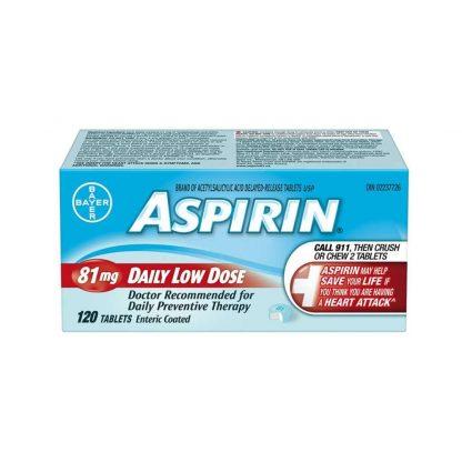 Aspirin Coated 81MG 120 TB