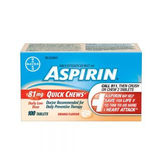 Aspirin Quick Chews 100pk