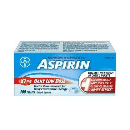 Aspirin Coated 81MG 180 TB