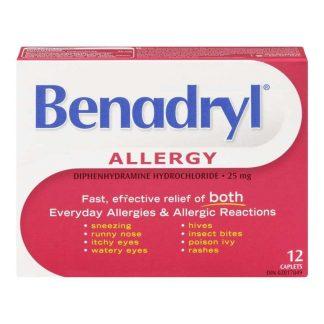 Benadryl Caplet 25MG 12