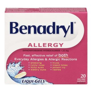 Benadryl Liquid Gels 20