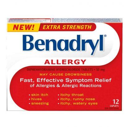Benadryl XST 50MG 12