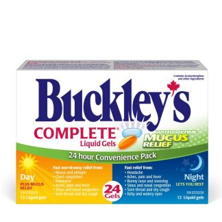 Buckleys Day Night Combo Liquid Gels 12+12