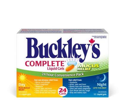 Buckleys Day Night Combo Liquid Gels 12+12