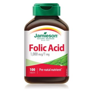 Jamieson Vitamin Folic Acid 1MG 100 Cap
