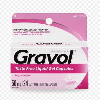 Gravol 50MG 24 Liquid Gels