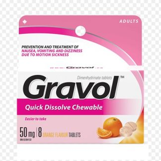 Gravol 50MG 8 Chewable Tablets