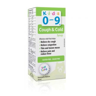 Kids 0-9 Cough Syrup Sugar/Gluten Free 100ML