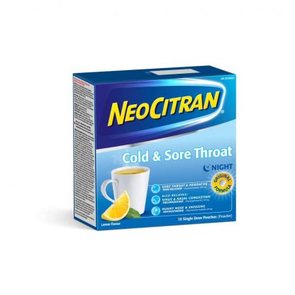 Neocitran Cold & Sore Throat 10