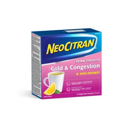 Neocitran Ex-Strength Cold & Congestion Non Drowsy 10