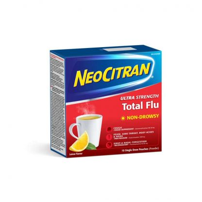 Neocitran Total Flu Extra Strength Non Drowsy 10