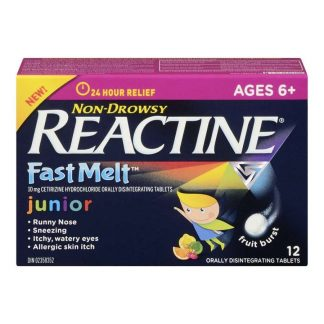 Reactine JR Fast Melt 12 Tablets