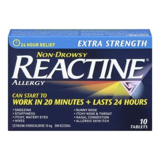 Reactine Extra Strength 10MG 10 Tab