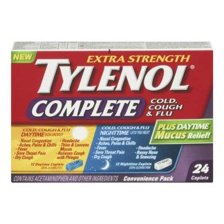Tylenol Complete Cold, Cough & Flu Convenience Pack 12+12