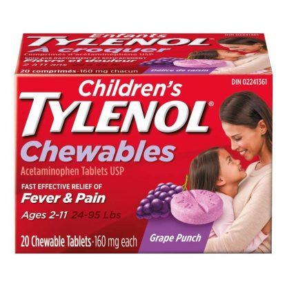 Tylenol Childrens Grape Chew 20