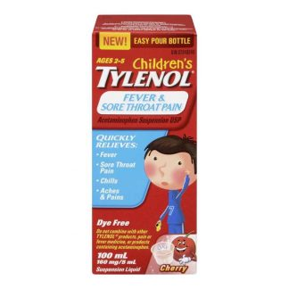 Tylenol Childrens Fever & Sore Throat Cherry 100ML