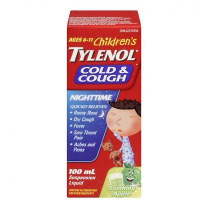 Tylenol Childrens Cold & Cough Nightime Apple 100ML