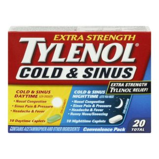 Tylenol Cold & Sinus Convenience Pack 10+10