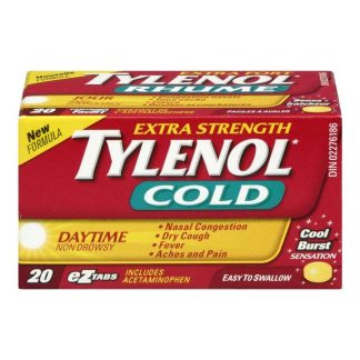 Tylenol Cold Extra Strength Non Drowsy 20 EZ Tab