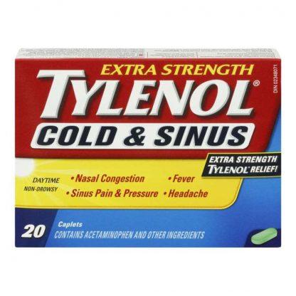 Tylenol Cold & Sinus Extra Strength Non Drowsy 20 Tab