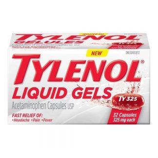Tylenol Liquid Gels 325MG 32