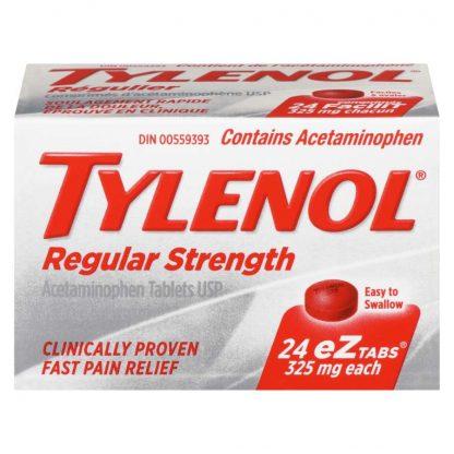 Tylenol Regular 325MG EZ 24 Tab