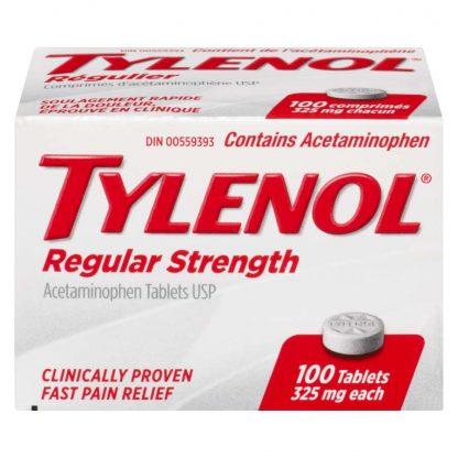 Tylenol Regular Strength 325MG 100 Tab