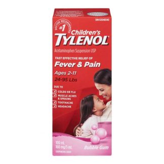 Tylenol Childrens Susp Bubble Gum 100ML