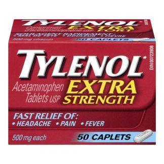 Tylenol Extra Strength Caps 50