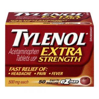 Tylenol Extra Strength Tabs 50