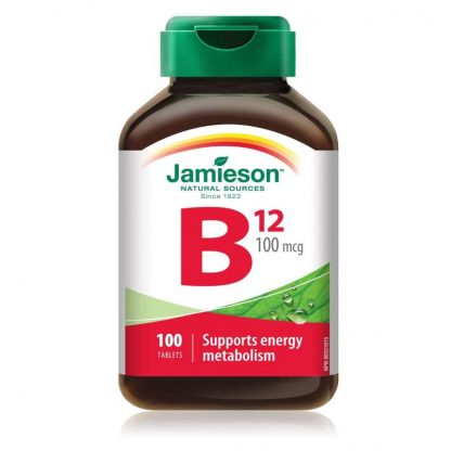 Jamieson Vitamin B12 100MCG 100 Tab