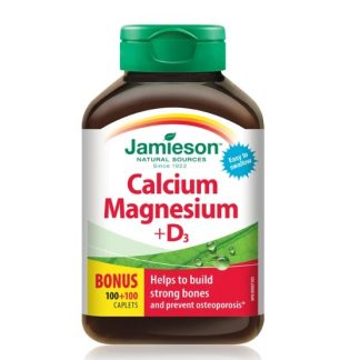 Jamieson Vitamin Calcium Magnesium +D3 Bonus Size 100+100 Cap