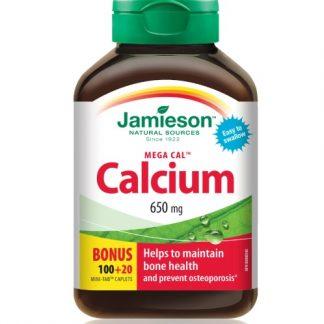 Jamieson Vitamin Calcium ? Mega Cal 650MCG 100+100 Cap