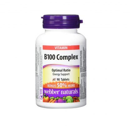 Webber Naturals Vitamin B100 90 Tab + Bonus