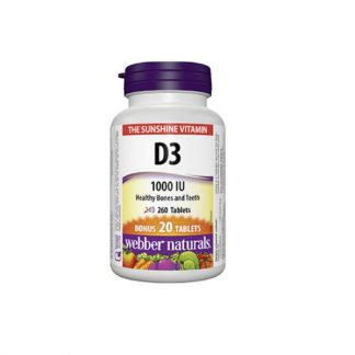 Webber Naturals Vitamin D3 1000IU 260 Tab