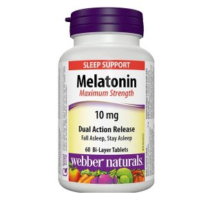 Webber Naturals Vitamin Melatonin 10MG 60 Tab