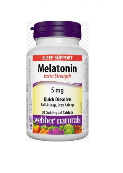 Webber Naturals Vitamin Melatonin 5MG 144 Tab