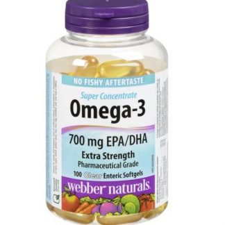 Webber Naturals Vitamin Omega-3 700MG 100 Softgels