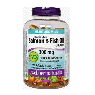 Webber Naturals Wild Alaskan Salmon & Fish Oil 300MG 220 Softgels
